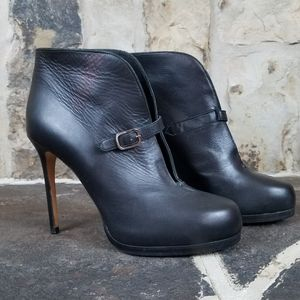 Theory 38 Leather Heeled Heels Booties Ankle Boots
